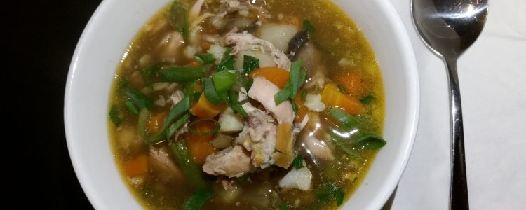 Chicken and Winter  Vegetable Soup