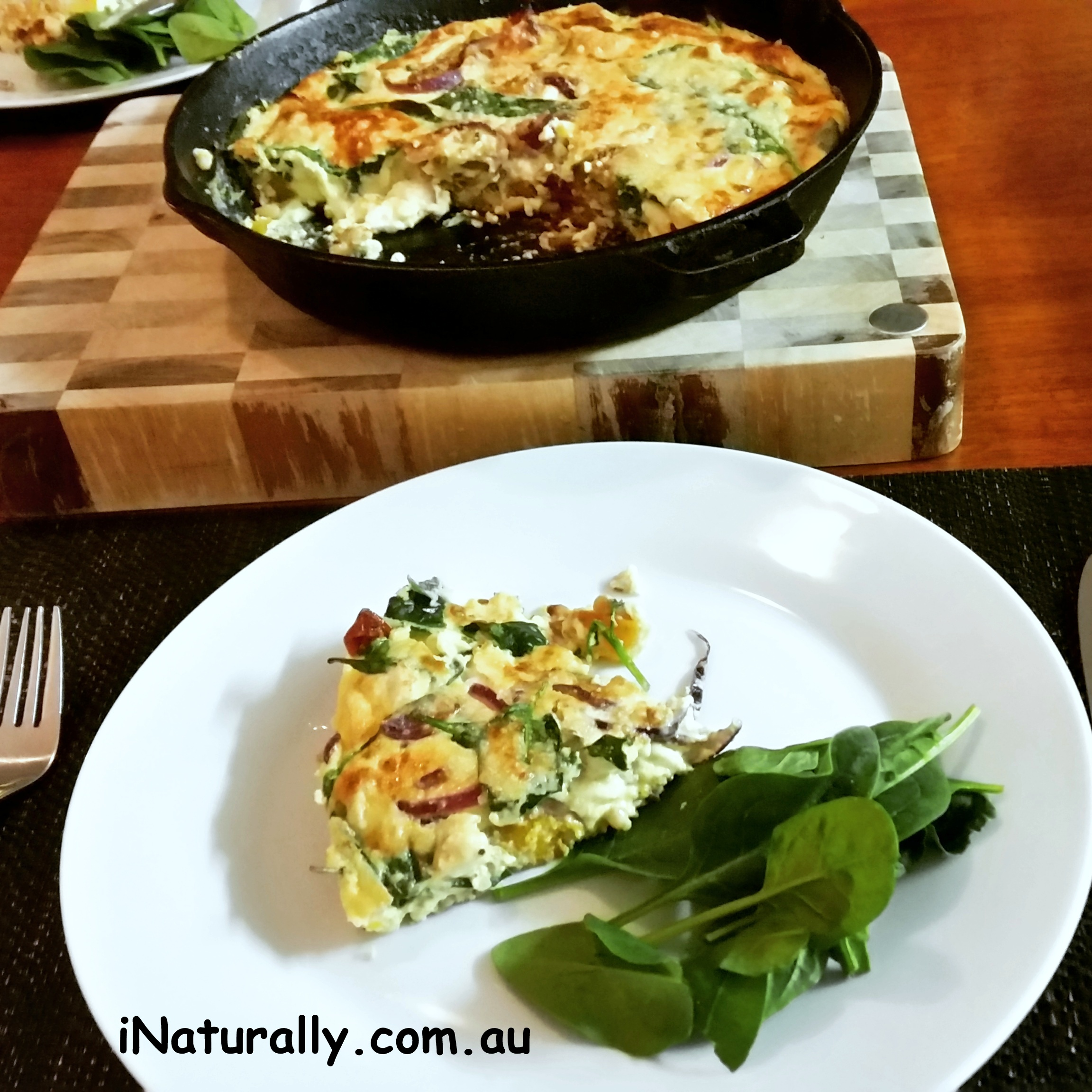 Mediterranean Frittata With Pumpkin And Sage Inaturally
