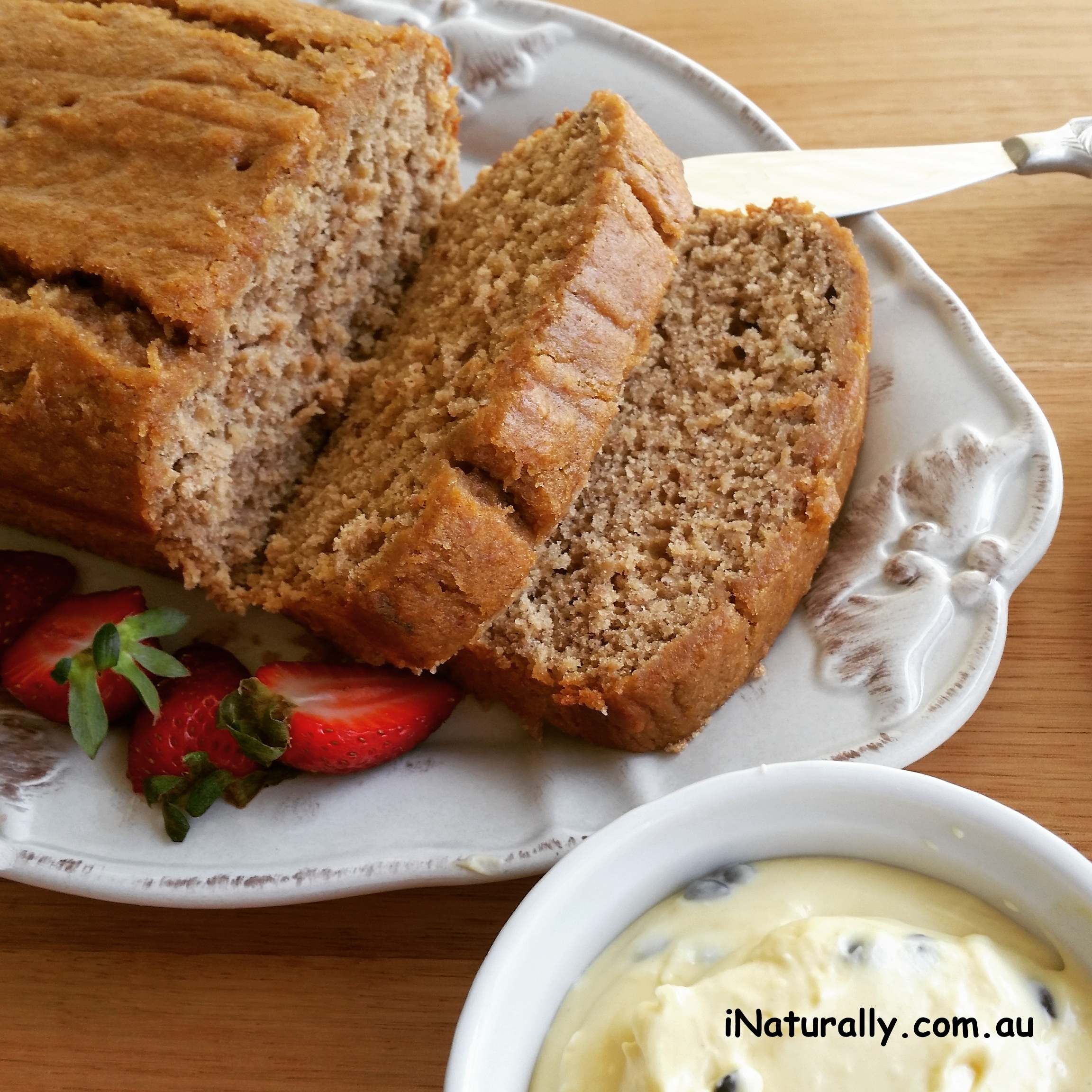 Banana loaf gf with passionfruit butter inaturally place all the ingredients in a food processor and whiz until combined chill until ready to serve forumfinder Images